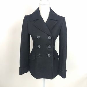 Moda international wool pea coat- Black XS